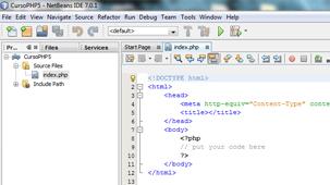 Creación de un Proyecto PHP en NetBeans